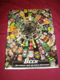 3D BEER BOTTLES WALL ART Mancave Bar Garage Home Decor - the-bowerbirds-nest-of-treasures