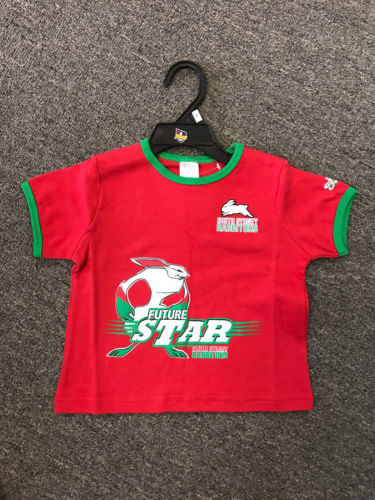 NRL SOUTH SYDNEY RABBITOHS Mascot Kids Star T-SHIRT Size 1 - The Bowerbirds Nest of Treasures