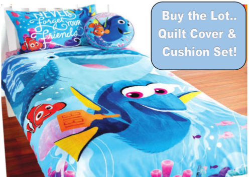 FINDING NEMO DORI SINGLE BED SIZE QUILT DUVET COVER AND CUSHION SET BEDROOM - the-bowerbirds-nest-of-treasures
