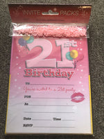 21st Birthday Invitations with Envelopes & Scatters - the-bowerbirds-nest-of-treasures