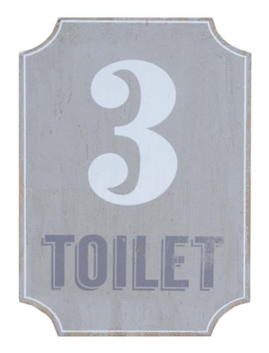 Splosh Loft White Toilet Door Wall Plaque Sign House Home Office Garage - The Bowerbirds Nest of Treasures