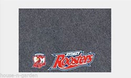 NRL ROOSTERS MULITPURPOSE DOOR DESK BBQ BEDROOM BATHROOM MAT - the-bowerbirds-nest-of-treasures