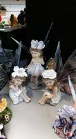 Gorgeous FAIRES FAIRY SET 3 Home Garden Statue Ornament - The Bowerbirds Nest of Treasures