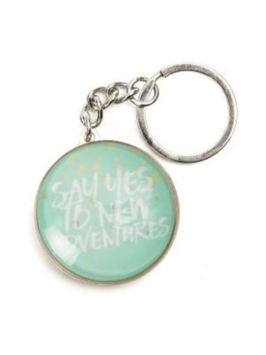 SPLOSH KEYRING Pastel Dreams Say Yes To New Adventures great gift idea - The Bowerbirds Nest of Treasures