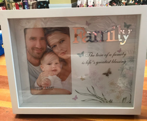 Family Inspirational Freestanding Photo Picture Frame 4 x 6 Home Decor - the-bowerbirds-nest-of-treasures