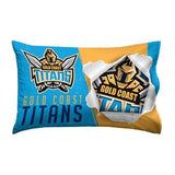NRL GOLD COAST TITANS FOOTBALL DUVET QUILT COVER SINGLE BED HOME DECOR - The Bowerbirds Nest of Treasures