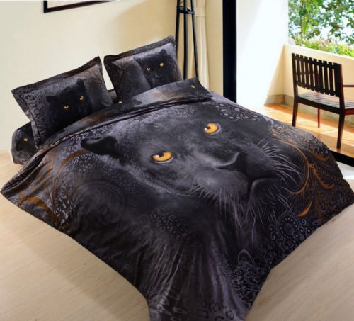 BLACK PANTHER QUILT DOONA COVER King Bed Bedroom Home Decor - the-bowerbirds-nest-of-treasures