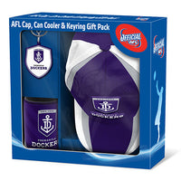 AFL Fremantle Dockers Supporter Pack Hat Cap Cooler Keyring Official Licensed - The Bowerbirds Nest of Treasures