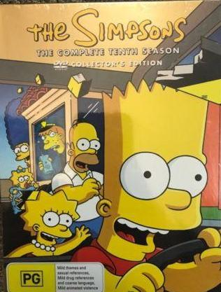 THE SIMPSONS SEASON 10 DVD COLLECTORS EDITION - The Bowerbirds Nest of Treasures