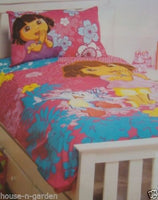 DORA THE EXPLORER SINGLE BED QUILT COVER SET GIRLS BEDROOM HOME DECOR 1/2 PRICE - The Bowerbirds Nest of Treasures