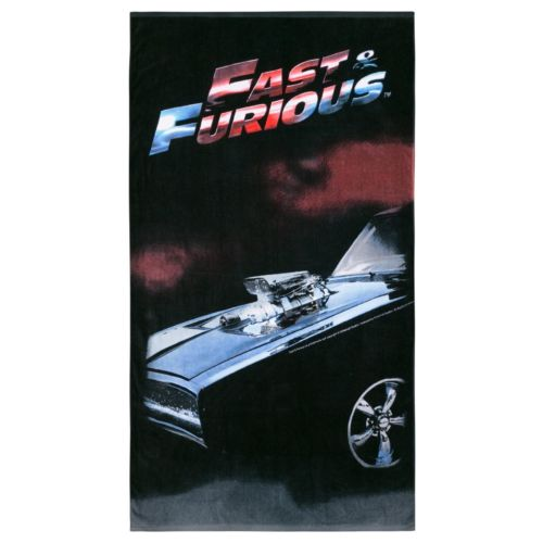 FAST & FURIOUS Printed Cotton Velour Jumbo Beach Towel - The Bowerbirds Nest of Treasures