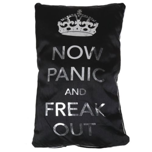 TEENS NOW PANIC AND FREAK OUT PILLOW CUSHION BEDROOM HOME DECOR - the-bowerbirds-nest-of-treasures