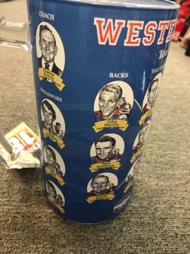 OFFICIAL LICENSED AFL WESTERN BULLDOGS FIRST 18 GLASS JUG GREAT GIFT IDEA - The Bowerbirds Nest of Treasures