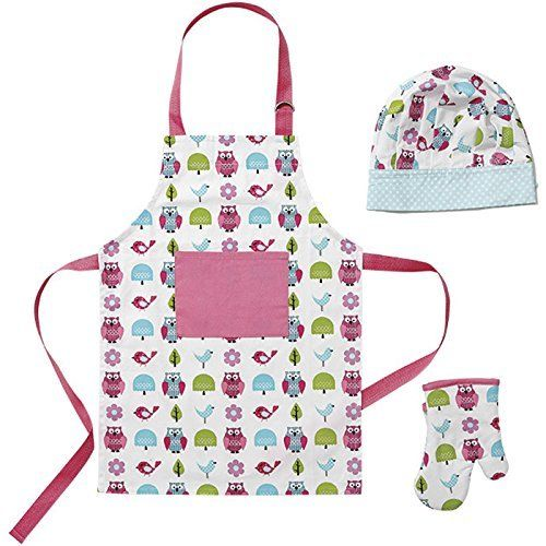 CUBBY HOUSE KIDS LITTLE CHEF SET ~ GIRLS CUTIE FRIEND OWL APRON ~ KITCHEN COOK - The Bowerbirds Nest of Treasures