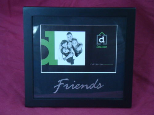Friends Black Wooden 4 x 6 Photo Frame - The Bowerbirds Nest of Treasures