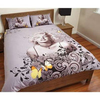 MARYLIN MONROE BROWN SINGLE BED QUILT DOONA DUVET COVER SETS BEDROOM DECOR - The Bowerbirds Nest of Treasures