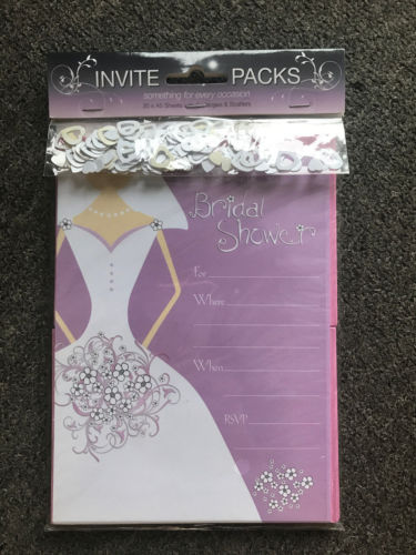 Bridal Shower Invitations with Envelopes & Scatters - the-bowerbirds-nest-of-treasures