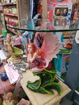 Fairy with Flowers Glass Table top Table - the-bowerbirds-nest-of-treasures