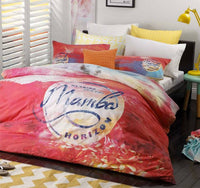 100% MAMBO SUNSET PINK Girls Single Bed Quilt Cover Set - The Bowerbirds Nest of Treasures