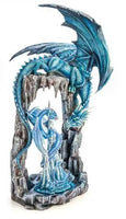 Chandelier Dragon Cave Blue Mythical Creatures