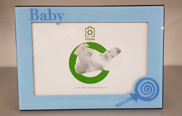BABY BOY PICTURE PHOTO FRAME HOLDS 4X6 PHOTO Christening Baby Shower Gift Idea - The Bowerbirds Nest of Treasures