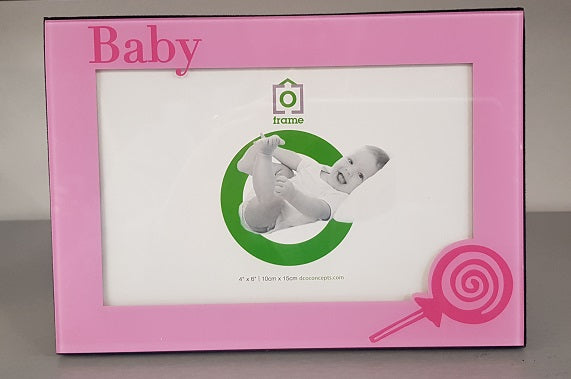 BABY GIRL PICTURE PHOTO FRAME HOLDS 4X6 PHOTO Baby Shower Christening Gift - The Bowerbirds Nest of Treasures