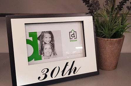 30th Birthday Photo Frame - The Bowerbirds Nest of Treasures