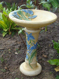 Orchid Flower Bird Bath Water Feature Concrete Statue - The Bowerbirds Nest of Treasures