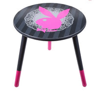 Playboy Lace Round Bedside Table - The Bowerbirds Nest of Treasures