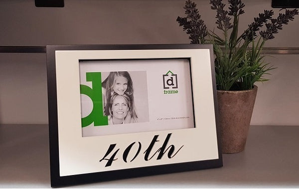 40th Birthday Anniversary Photo Frame - the-bowerbirds-nest-of-treasures