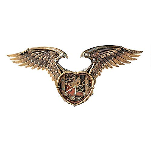 Wings of Steam Punk Wall Clock - The Bowerbirds Nest of Treasures