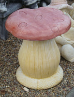 Mushroom Table & Chair Set Concrete Garden Statue - Pickup Only - The Bowerbirds Nest of Treasures