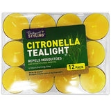 Citronella Tealigt Tea Light Candles Pack of 12 - The Bowerbirds Nest of Treasures