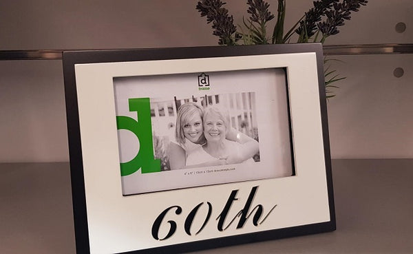 60th Birthday Photo Frame - the-bowerbirds-nest-of-treasures