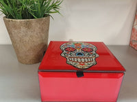 Sugar Skull Treasure Jewellery Trinket Box - The Bowerbirds Nest of Treasures