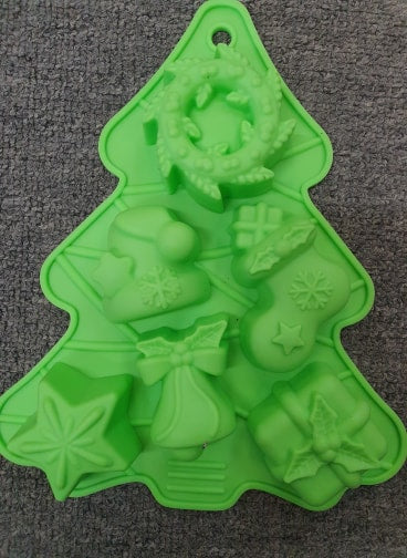 Christmas Silicone Soap Cake Jelly Chocolate Mould - The Bowerbirds Nest of Treasures