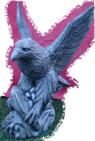 Large Eagle  Concrete Garden Statue ~ PICKUP ONLY - The Bowerbirds Nest of Treasures