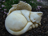 Angel Cat Memorial Concrete Garden Statue - The Bowerbirds Nest of Treasures