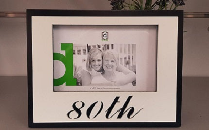 80th Birthday Photo Frame - The Bowerbirds Nest of Treasures
