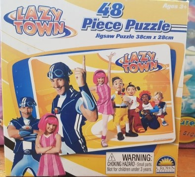Lazy Town 48 peices Jigsaw Puzzles - The Bowerbirds Nest of Treasures