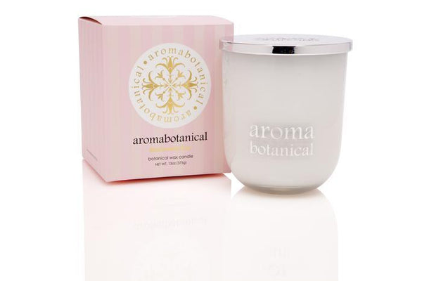 Aromabotanical Marshmallow Rose Botanical Wax Candle  375g - The Bowerbirds Nest of Treasures