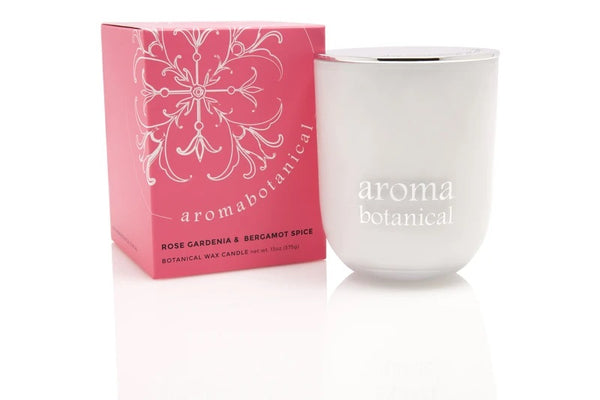 Rose Gardenia & Bergamot Sice Botanical Wax Candle