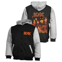 ACDC Mens Sublimated Bomber Jacket Official Design Embroded Logo - The Bowerbirds Nest of Treasures