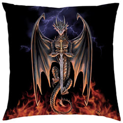 Anne Stokes Dragon Warrior Cushion The Bowerbirds Nest of Treasures