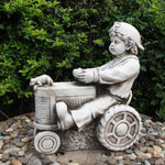 Boy riding Tractor Garden Statue The Bowerbirds Nest of Treasures Warragamba