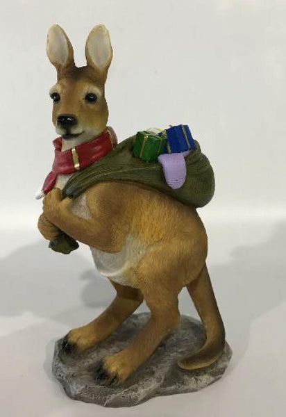 Christmas Kangeroo Statue Ornament - The Bowerbirds Nest of Treasures
