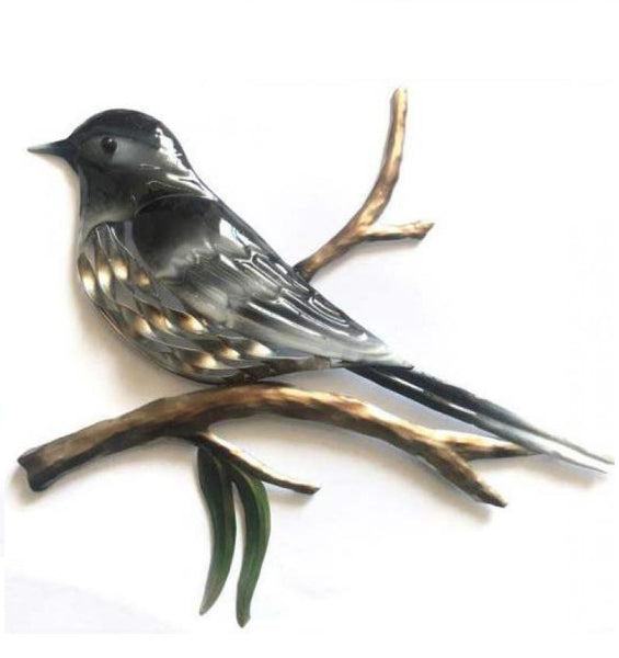 Willy Wagtail Bird Metal Outdoor Wall Art