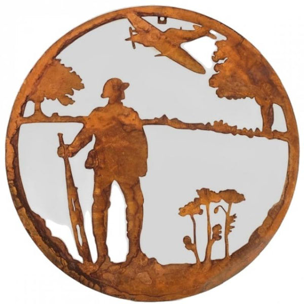 Rustic Lest We Forget Metal Wall Art