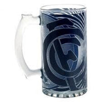 OFFICAL LICENSED AFL CARLTON BLUES 500ml STEIN BEER DRINK GLASS - The Bowerbirds Nest of Treasures