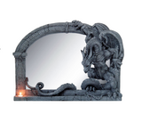 Chained Dragon Wall Mirror Ornament Statue - The Bowerbirds Nest of Treasures
